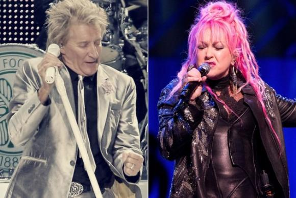 Rod Stewart & Cyndi Lauper at Verizon Theatre at Grand Prairie