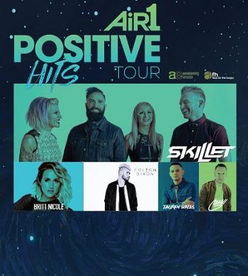 Air 1 Positive Hits Tour: Skillet, Britt Nicole, Colton Dixon & Tauren Wells at Verizon Theatre at Grand Prairie