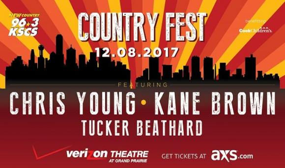 KSCS Country Fest: Chris Young, Kane Brown & Tucker Beathard at Verizon Theatre at Grand Prairie