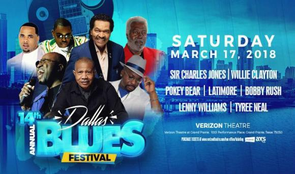 14th Annual Blues Festival: Sir Charles Jones, Willie Clayton, Pokey Bear & Bobby Rush at Verizon Theatre at Grand Prairie