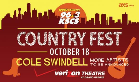 KSCS Country Fest: Cole Swindell at Verizon Theatre at Grand Prairie