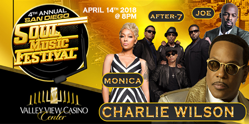 Charlie Wilson, Monica & After 7 at Verizon Theatre at Grand Prairie