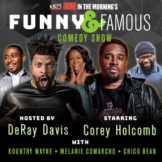 Funny and Famous: DeRay Davis & Corey Holcomb at Verizon Theatre at Grand Prairie
