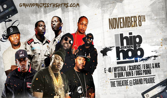 The Legends Of Hip Hop at Verizon Theatre at Grand Prairie