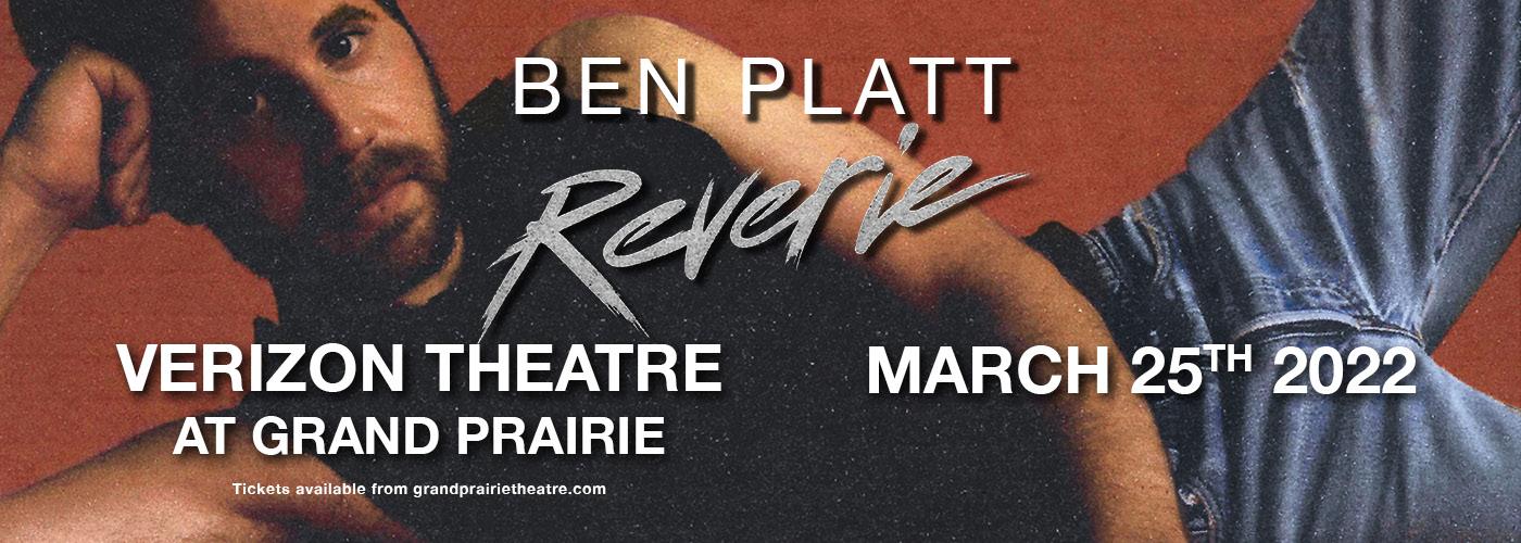 Ben Platt at Verizon Theatre at Grand Prairie