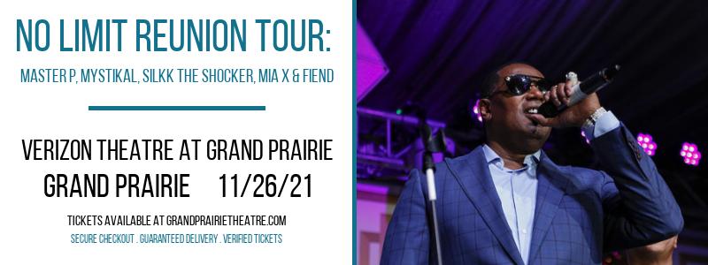 No Limit Reunion Tour: Master P, Mystikal, Silkk The Shocker, Mia X & Fiend at Verizon Theatre at Grand Prairie