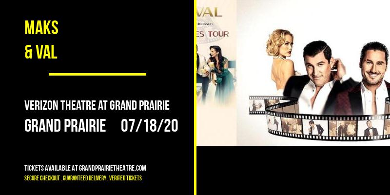 Maks & Val [CANCELLED] at Verizon Theatre at Grand Prairie