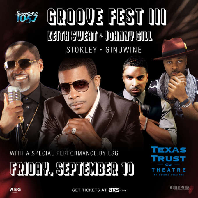Groove Fest III: Keith Sweat & Johnny Gill at Verizon Theatre at Grand Prairie